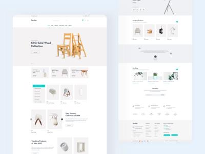 Minimal Ecommerce Homepage Design