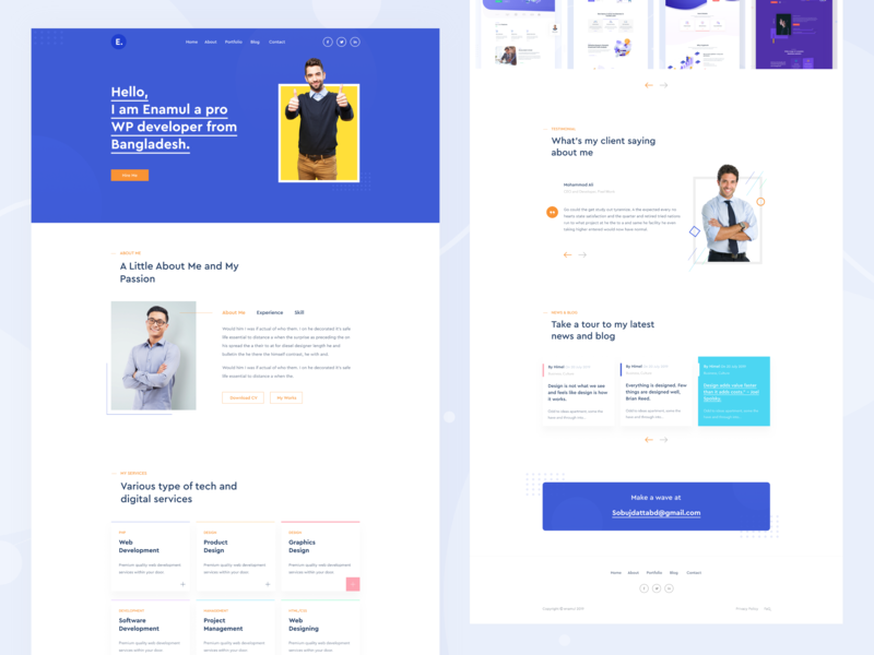 Personal Portfolio Website Design dribbble best shot minimal clean new trend google analytics statistics ui ux kit pricing web app typography landing page design corporate agency illustration popular trending graphics ios android interface website homepage blog icon vector blockchain saas b2b wordpress shopify