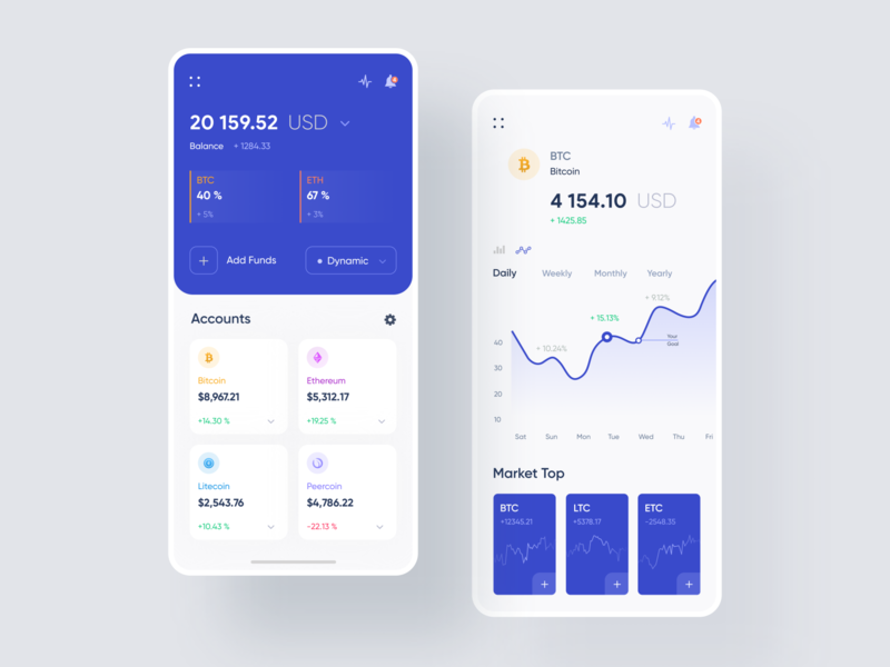 Cryptocurreny App Exploration mobile design mobile app android app design app designers trendy app bitcoin wallet blue cryptocurrency app wallet app best designer uxdesign app designer ui creative design design designer icon vector blockchain minimal clean new trend ios android interface dribbble best shot