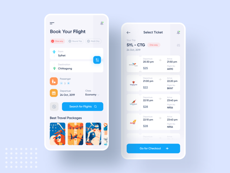 Flight App Exploration ux design interface hotel app mobile app design mobile design popular design uidesign uxdesign booking app trendy design creative design flight app design ui ux kit pricing popular trending graphics minimal clean new trend ios android interface dribbble best shot