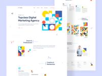Marketing Agency Landing Page Design
