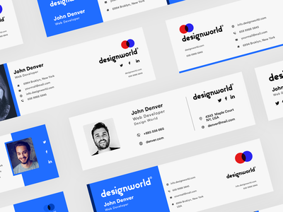 Email Signature Template Designs Themes Templates And Downloadable Graphic Elements On Dribbble