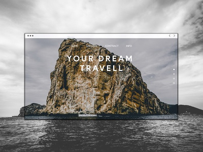 Simple Travel Agency UI/UX Exploration