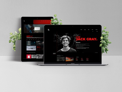 """Red & Black"" Flavor  Responsive Personal Web Design"