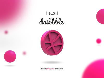 Hello Dribble...! firstshot artist dribble shot dribbleartist motion design graphic dribblers hello dribble illustration minimal animation icon app web typography branding design