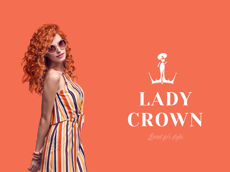 Lady Crown Fashion Logo girls dribble shot dribbleartist artist logotype new post dribble dribbler vibrant color cool design business branding identity brand fashion crown lady design logo