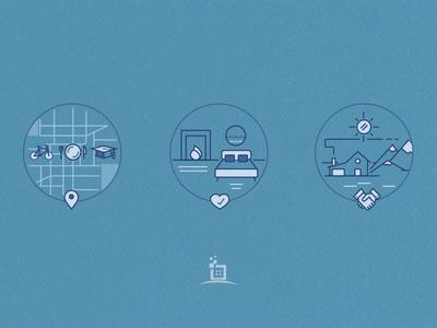 Some icon illustrations for marketing illustration icon marketing hustle print t-shirt poster