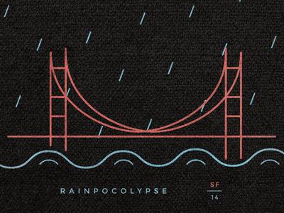 Rainpocolypse san francisco illustration icon marketing hustle print t-shirt poster