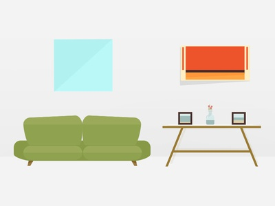 An interior illustration for RealScout illustration icons graphic design illustrator real estate