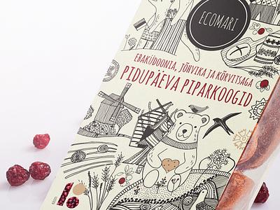 Illustration for Ecomari packaging packaging desing illustration
