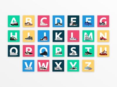 Sneaker Alphabet