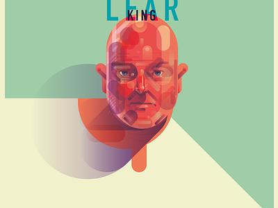 Poster for King Lear poster shakespeare man portrait theatre illustration adobeillustrator people vector