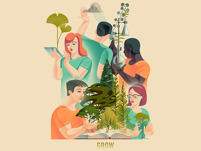 Grow laboratory scientists people propagation science botany plants horticulture trees