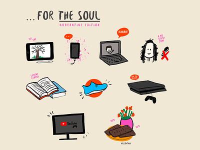 For The Soul | Quarantine Edition digital art illustration procreate art procreate