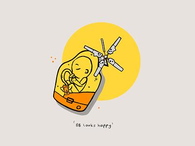 BB Looks Happy hideo kojima bb gaming procreate illustration bridge baby death stranding