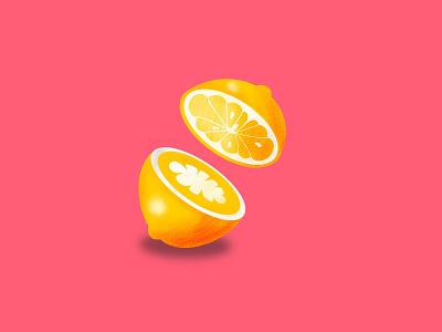 Lemon in Procreate shading practice procreate art illustration procreate lemon