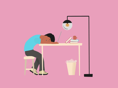 Work from Home Apathy (edit) digital illustration illustration procreate lockdown corona virus work from home wfh