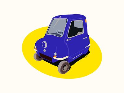 Peel P50 illustration procreate cars