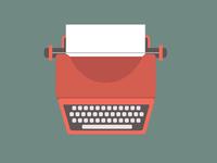 typewriter | red