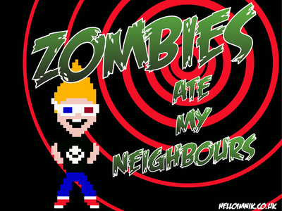 Zombies Ate My Neighbours | Pixel Art design practice graphic design 8-bit art pixel art zombies retrogaming gaming illustration