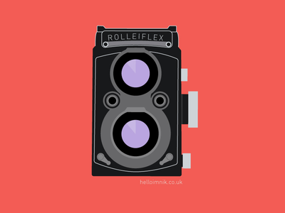Rolleiflex vector art illustrator photography retro vintage camera rolleiflex