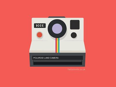 Polaroid Land Camera vector art illustrator retro tech photography camera vintage camera polaroid