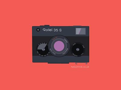 Rollei 35 S vector art illustrator rollei rolleiflex retro retro camera photography camera vintage camera
