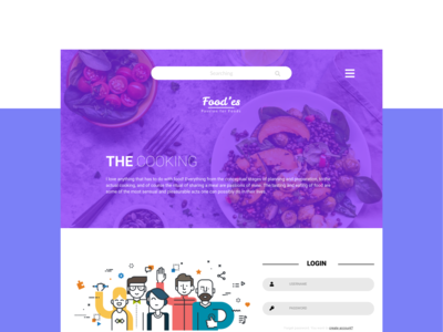 Food'es Website UI/UX Design