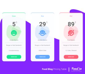 Food'es Pricing Table