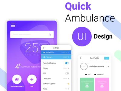 Quick Ambulance UI Design
