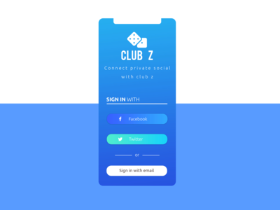 Club Z  Social Application