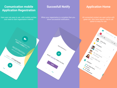 Communication Mobile Application (Previous UI/UX Design)