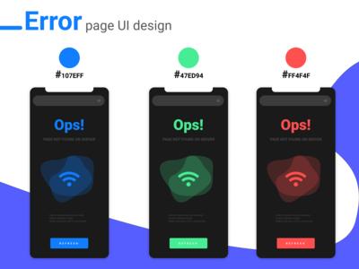 Error Page UI Design