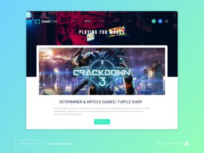 [UI/UX] Review Blog Website Design