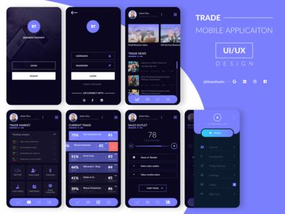 Trade Mobile Application UI/UX Design
