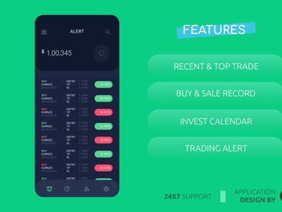 Forex Trade alert Ui Design