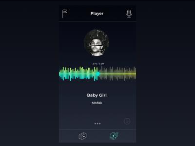 Audio Player UI interface ux ui sound app player audio music