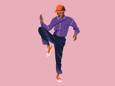 Township Street Dance adobe photoshop south africa township african dance african man hipster street dance dancer dance character illustration stylized vector texture photoshop illustration