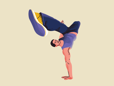 B-boy stylized illustrator breaking breaker vector texture adobe photoshop quick illustration fitness illustration fitness character illustration illustration artists illustration street dance