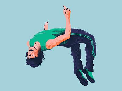 Backflip jump acrobatics somersault backflip shape and line vector texture adobe photoshop quick illustration fitness illustration fitness character illustration illustration artists illustration illustrator