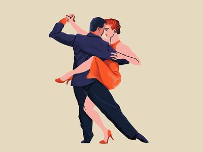 Tango stylised illustration shape and line vector texture adobe photoshop quick illustration fitness illustration fitness character illustration illustration artists illustration illustrator dance partners dancers ballroom dance dance latin dance tango