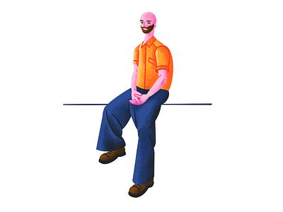 Baggy Trousers fashion figurative art stylised illustration illustrator quick illustration illustration artists texture character illustration illustration