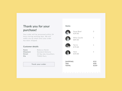 Daily UI 17 — Email Receipt dailyui daily ui challange ui design ux 017 email receipt payment order purchase email email app receipt