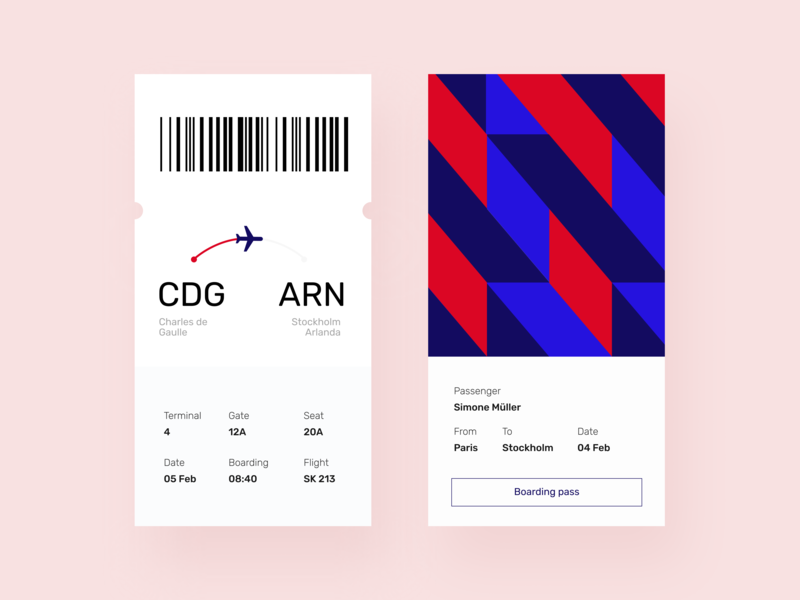 Daily UI 24 — Boarding Pass flight web daily ui challenge boarding boarding pass branding app mobile ux design ui dailyui