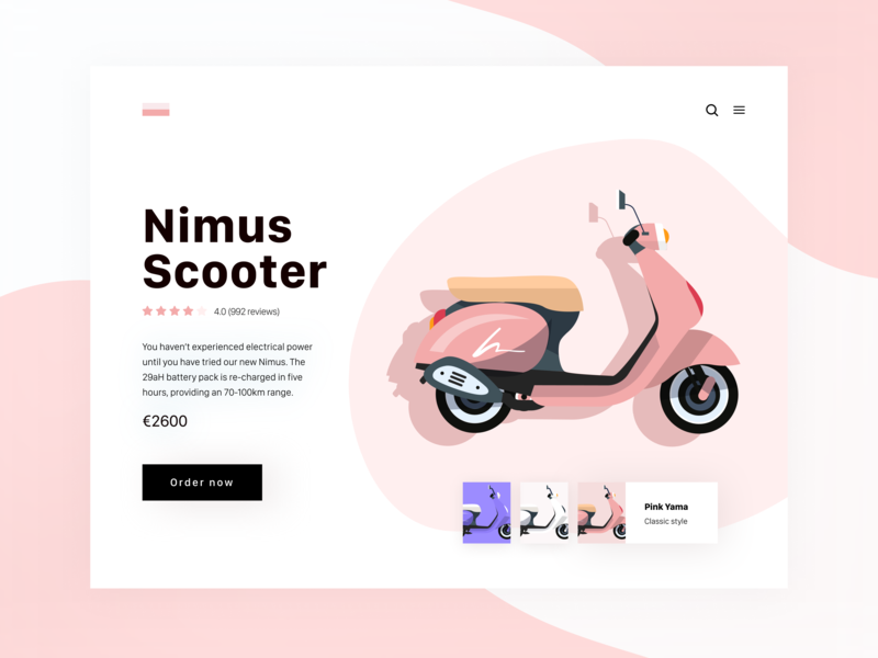 Daily UI 33 — Customize Product ecommerce product customize scooter illustration desktop daily ui challenge branding ux design ui dailyui