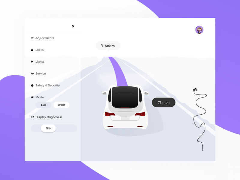 Daily UI 34 — Car Interface car ui car 034 app vector daily ui challenge ux design ui dailyui