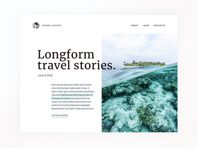 Daily UI 35 — Blog Post 035 blogpost blog web daily ui challenge ux design ui dailyui