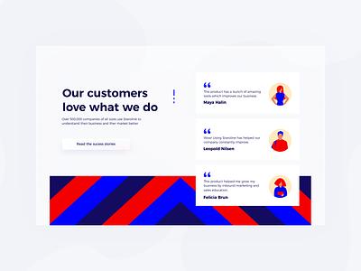 Daily UI 39 — Testimonials card quote testimonials colorful web desktop branding daily ui challenge design ux ui dailyui