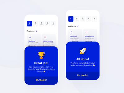 Daily UI 45 — Info Card mobile app daily ui challenge ux design ui dailyui blue flash card alert