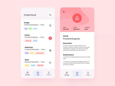 Daily UI 50 — Job Listing